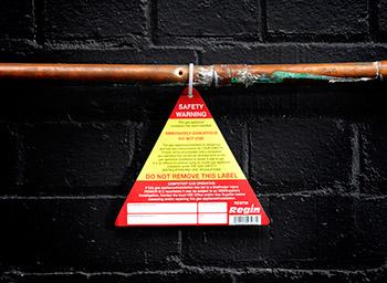Heating & Gas Warning Sign